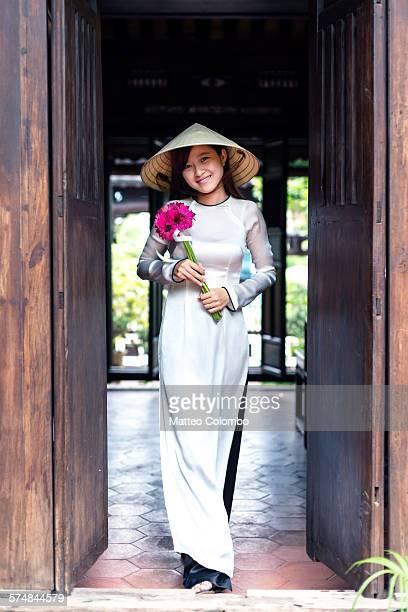 Young vietnamese girl with Ao Dai