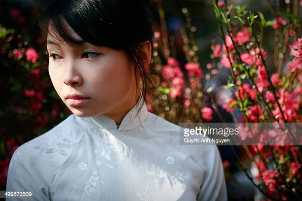 Young vietnamese woman at Lunar New Year
