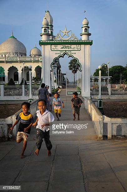 CONTENT] Young village boys chasing each outside the Jamiul Azhar MosqueChau Doc city Vietnam Chau Doc city is still home to a significant Cham...