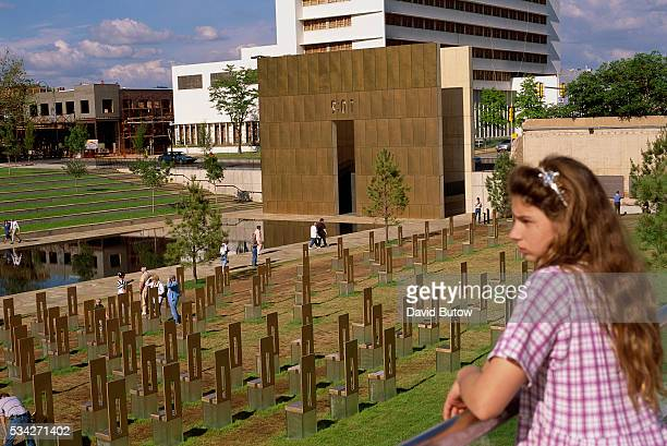 A young visitor looks over the the Oklahoma City National Memorial built on the site of the Alfred P Murrah building On April 19 Timothy McVeigh...