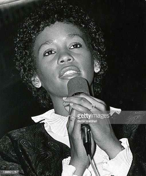 A Young Whitney Houston performs circa 1982 in Newark New Jersey