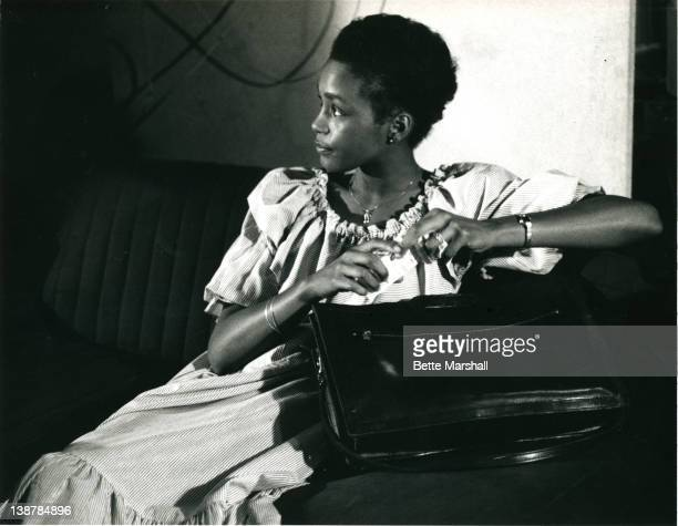 A Young Whitney Houston waits before her first professional audition for Bruce Lindvall of CBS Records circa 1982 in Newark New Jersey
