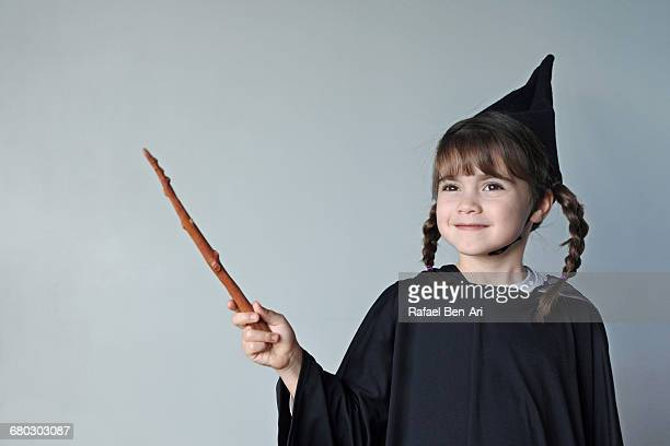 young wizard girl - wizard stock pictures, royalty-free photos & images