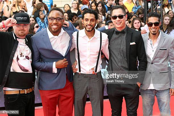 Young Wolf Hatchlings arrive at the 2015 MuchMusic Video Awards at MuchMusic HQ on June 21 2015 in Toronto Canada