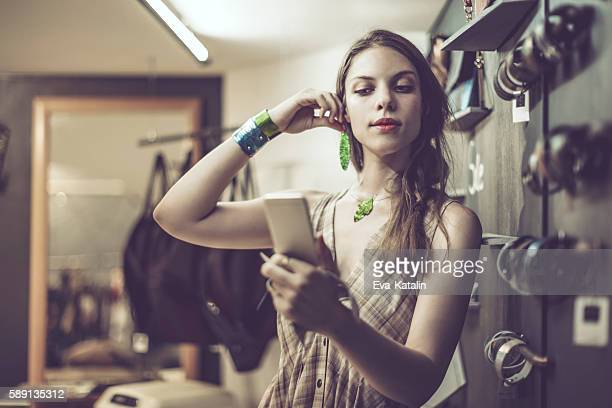 young woman advertising jewelry - bracelet photos stock pictures, royalty-free photos & images