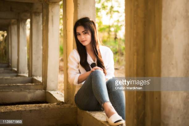 young woman and a sunny afternoon - chonburi province stock pictures, royalty-free photos & images