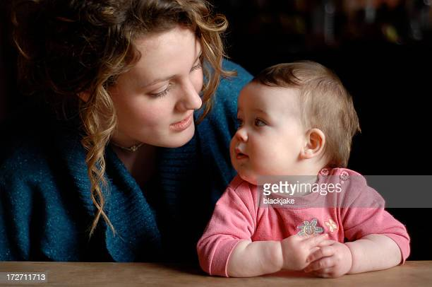 Young Woman and baby