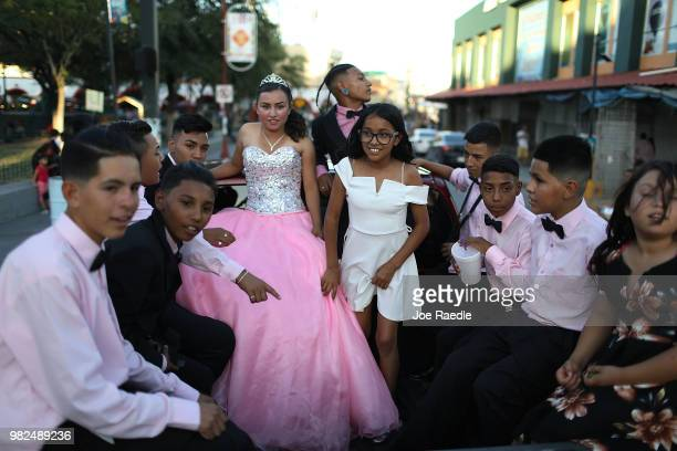 A young woman and friends celebrate her quinceanera on June 23 2018 in Ciudad Juarez Mexico The Trump administration created a policy of zero...