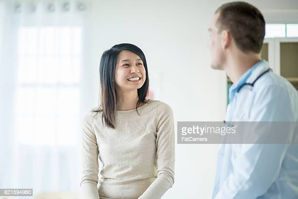 Young Woman at a Doctor's Appointment