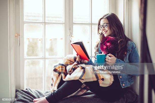 Young woman at home