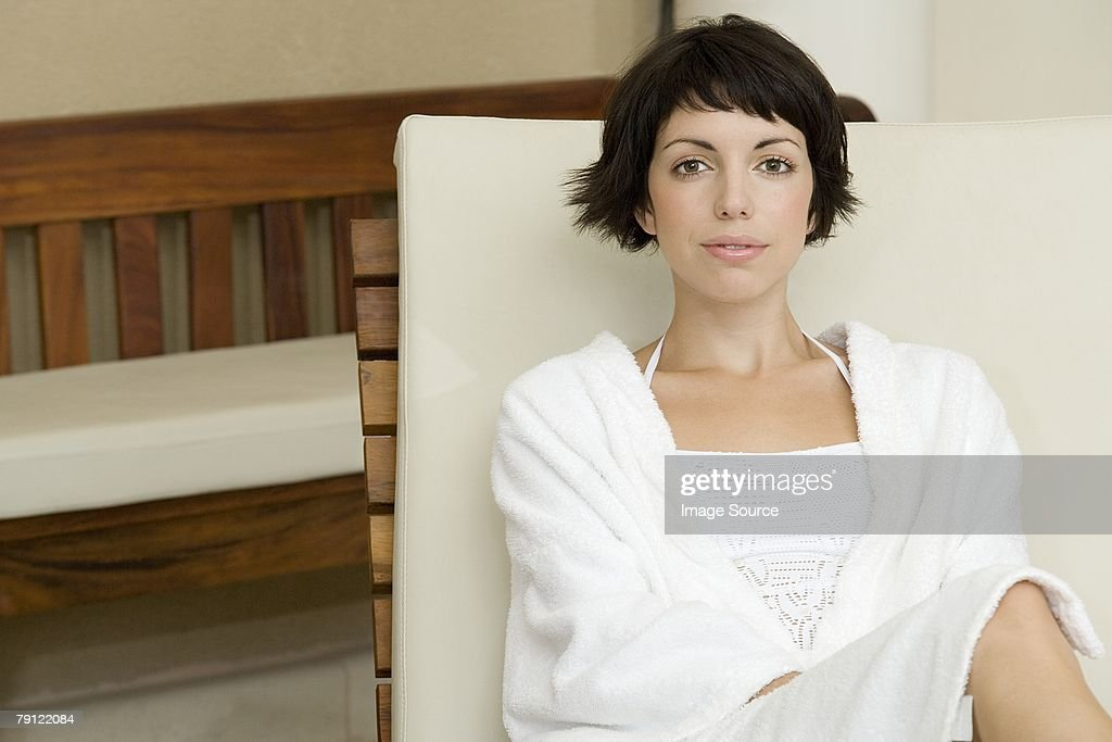 Young woman at spa : Stock Photo