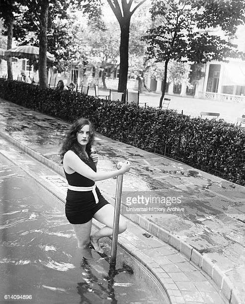Young Woman at Swimming Pool Chevy Chase Maryland USA circa 1928