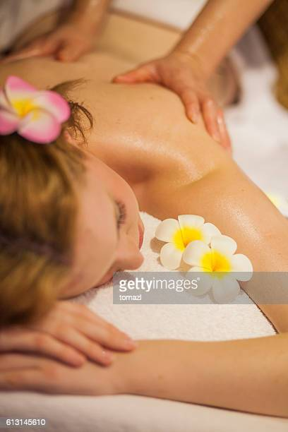 Young woman at Thai massage