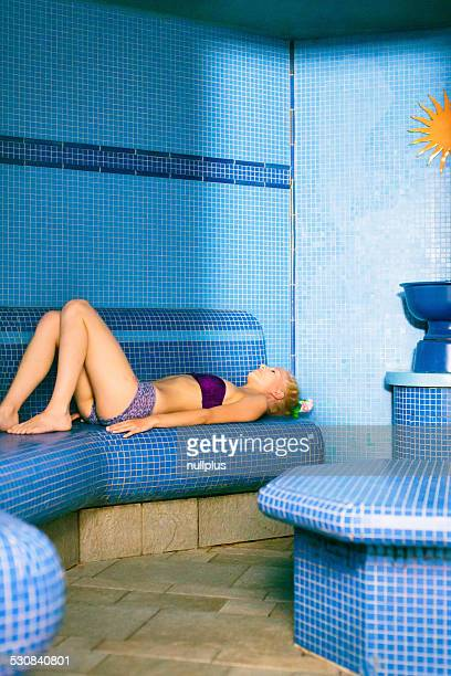 young woman at the spa