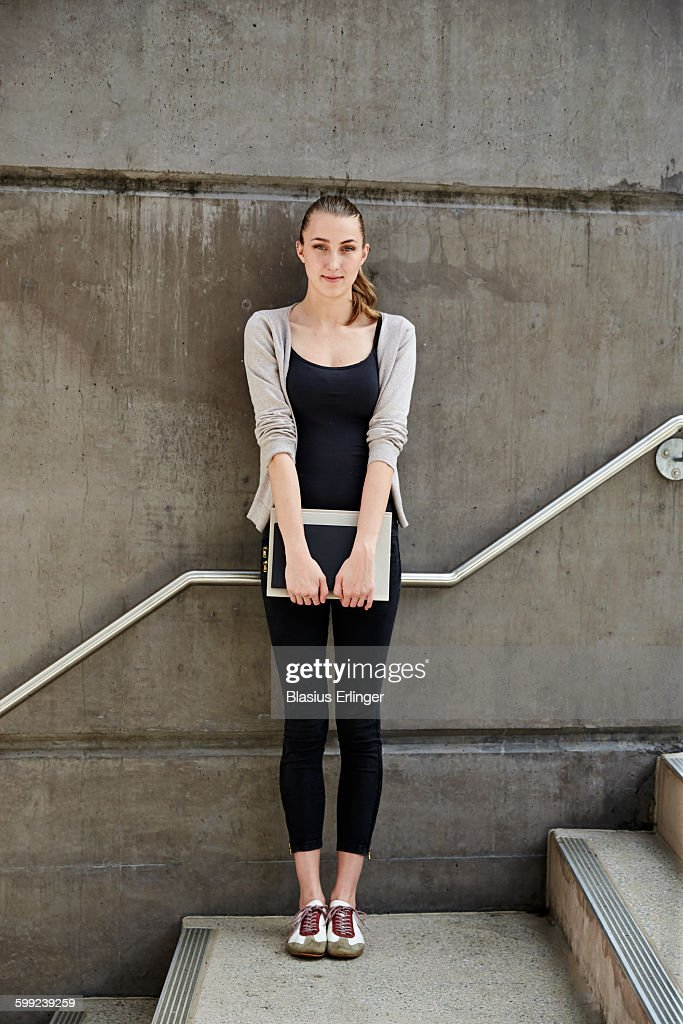 Young woman at university : ストックフォト