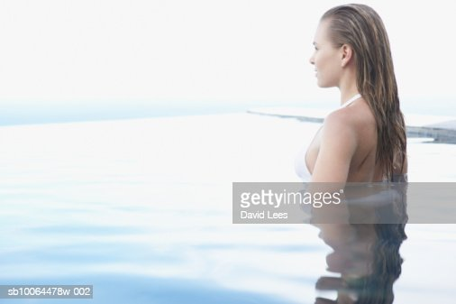 Young Woman Posing With Film Camera Outdoor High-Res Stock
