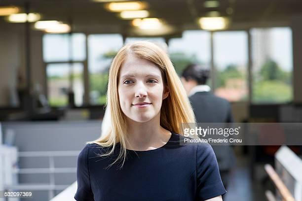 Young woman beginning internship, portrait