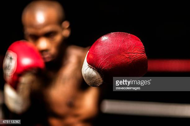 young woman boxer. - boxing gloves stock photos and pictures