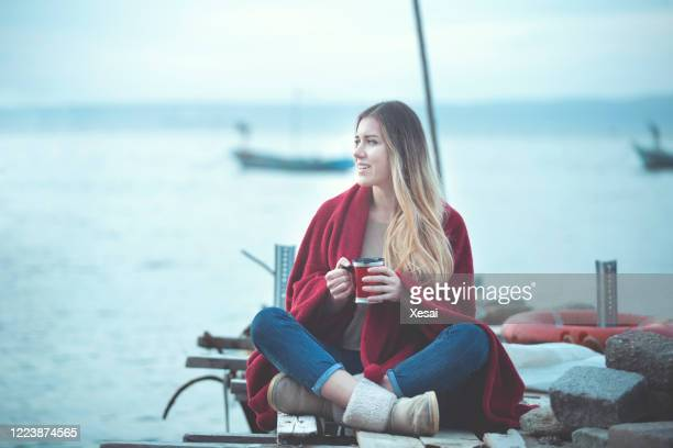 young woman camping - 2017 stock pictures, royalty-free photos & images