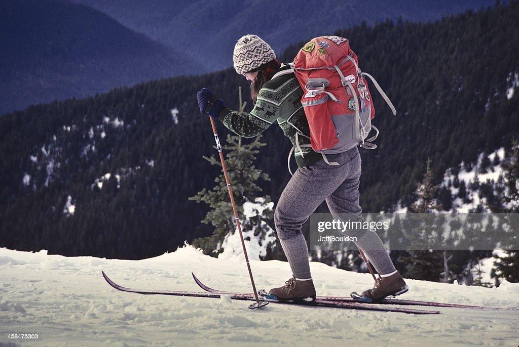 Skiing at Hurricane Ridge : Stock Photo