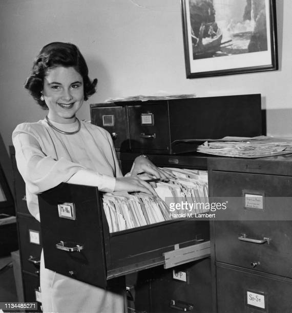 young woman clerk