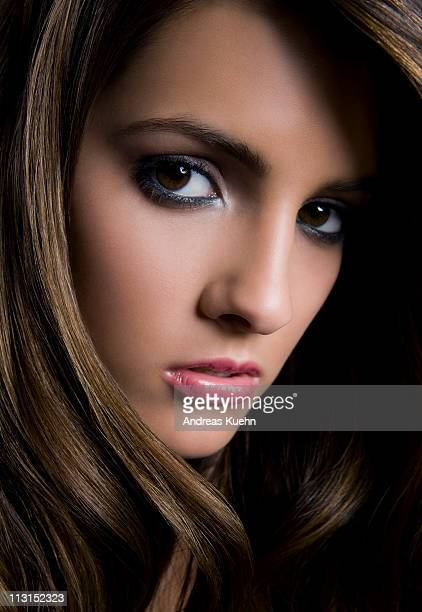 young woman close up beauty. - dominican ethnicity stock photos and pictures