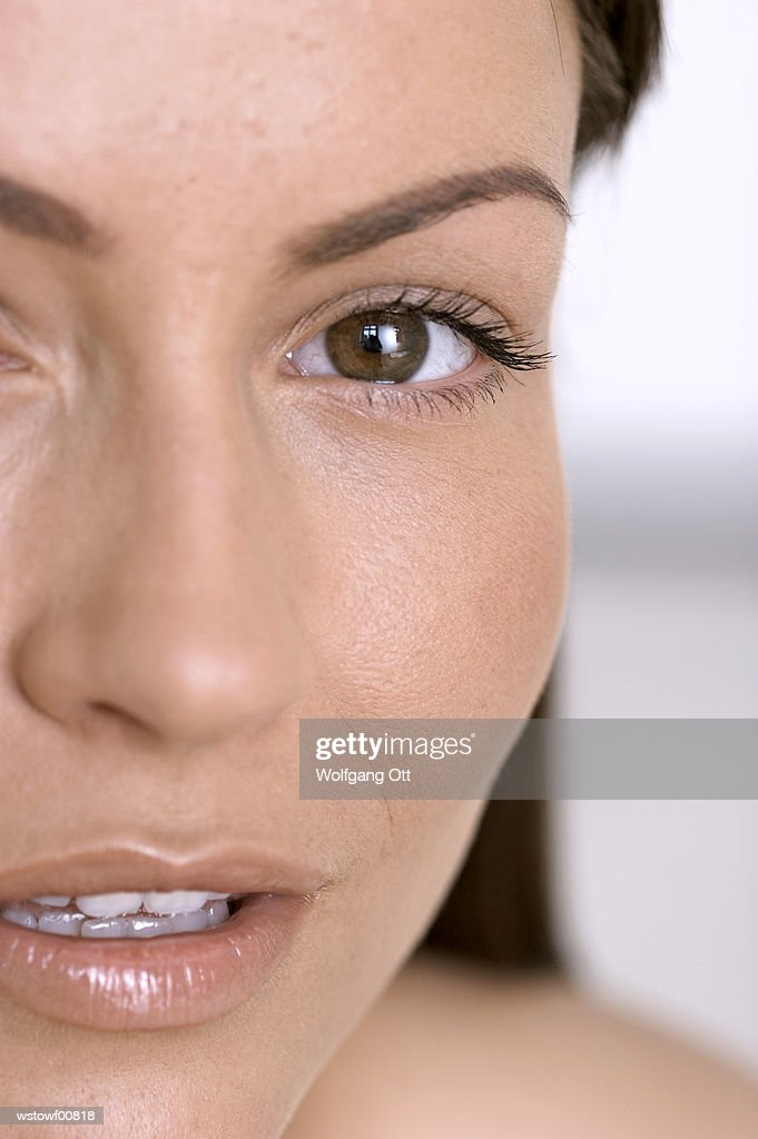 Young woman, close up : Foto de stock