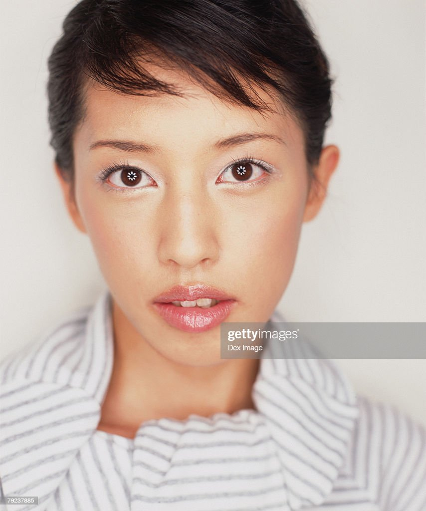 Young woman, close-up, portrait : Stock Photo
