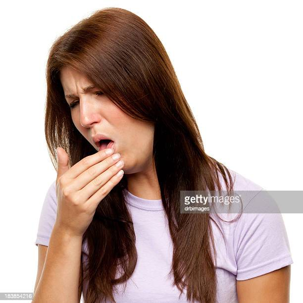 Young Woman Coughing