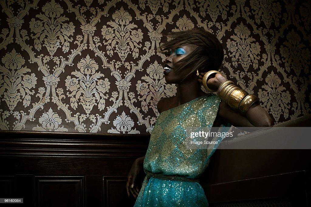 Young woman dancing : Stock Photo