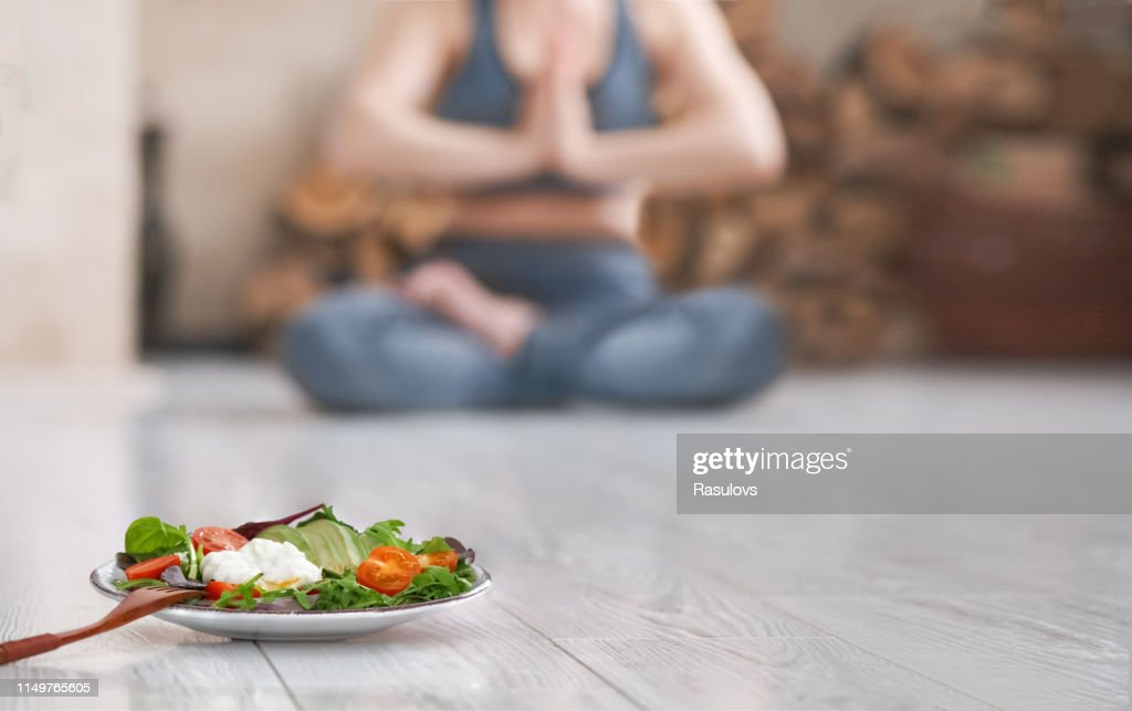 Young woman do yoga. : Stock Photo