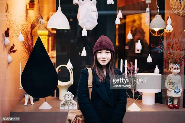Young woman doing Christmas shopping