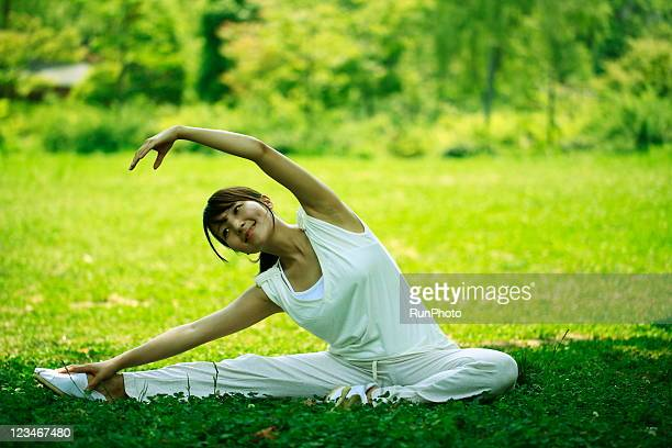 young woman doing yoga,healthy lifestyle