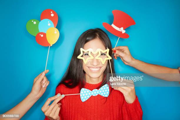 young woman dressed up - mask disguise stock pictures, royalty-free photos & images