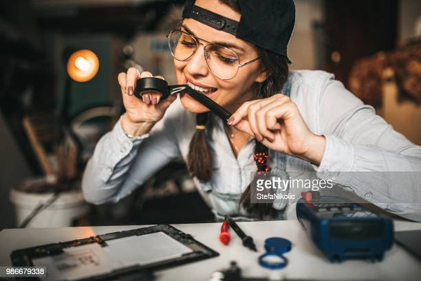 Young woman engineer working