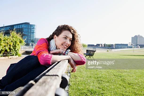 Young woman enjoying a break