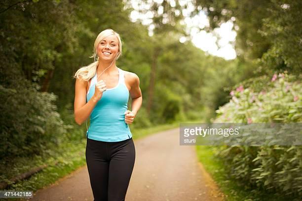 Young woman enjoying a jog