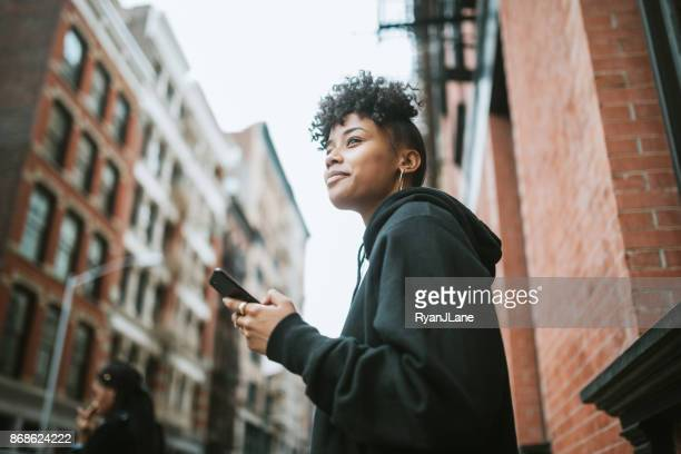Young Woman Enjoying City Life in New York