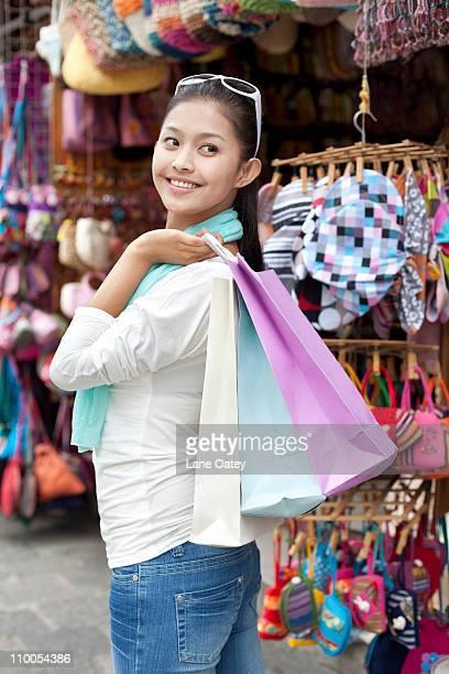 Young woman enjoying shopping