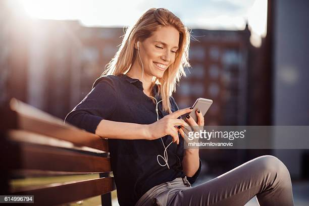 Young woman enjoying the afternoon