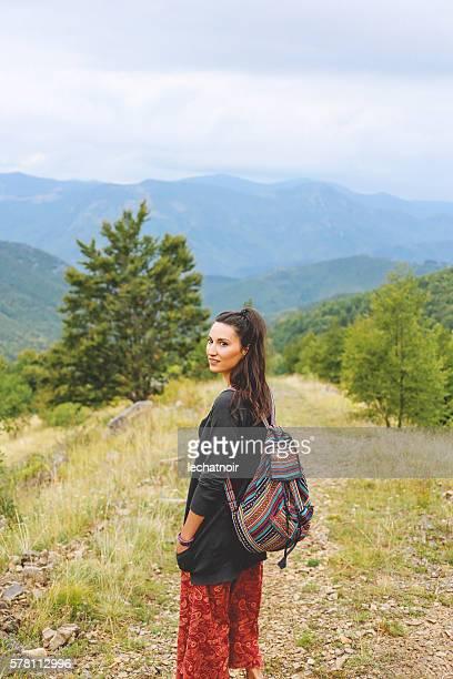 Young woman enjoying the nature