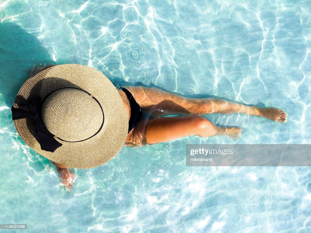 Young Woman Enjoying Time on The Beach In Tropical Country : Stock Photo