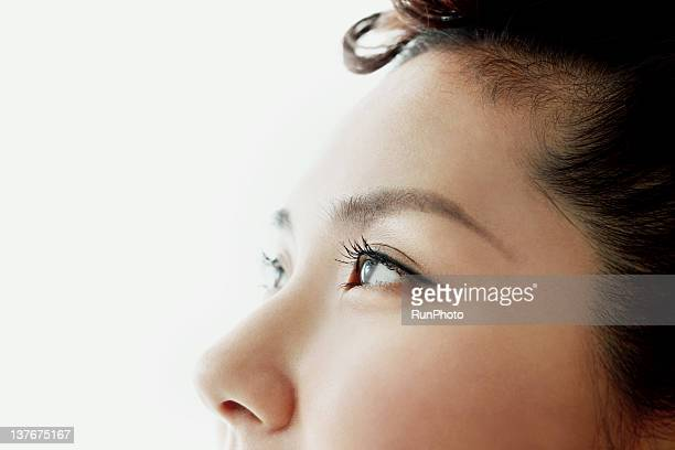 young woman eyes,close-up