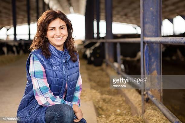 Junge Frau Farmer