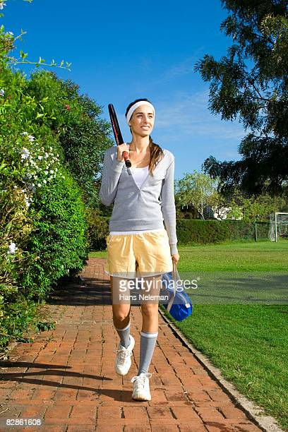 Young woman finishing practice