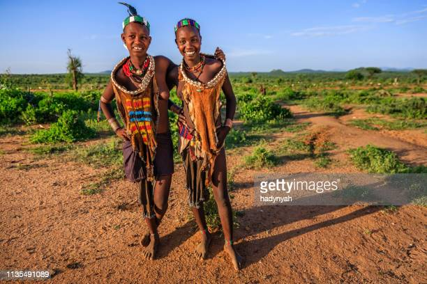 young woman from hamer, omo valley, ethiopia, africa - horn of africa stock pictures, royalty-free photos & images