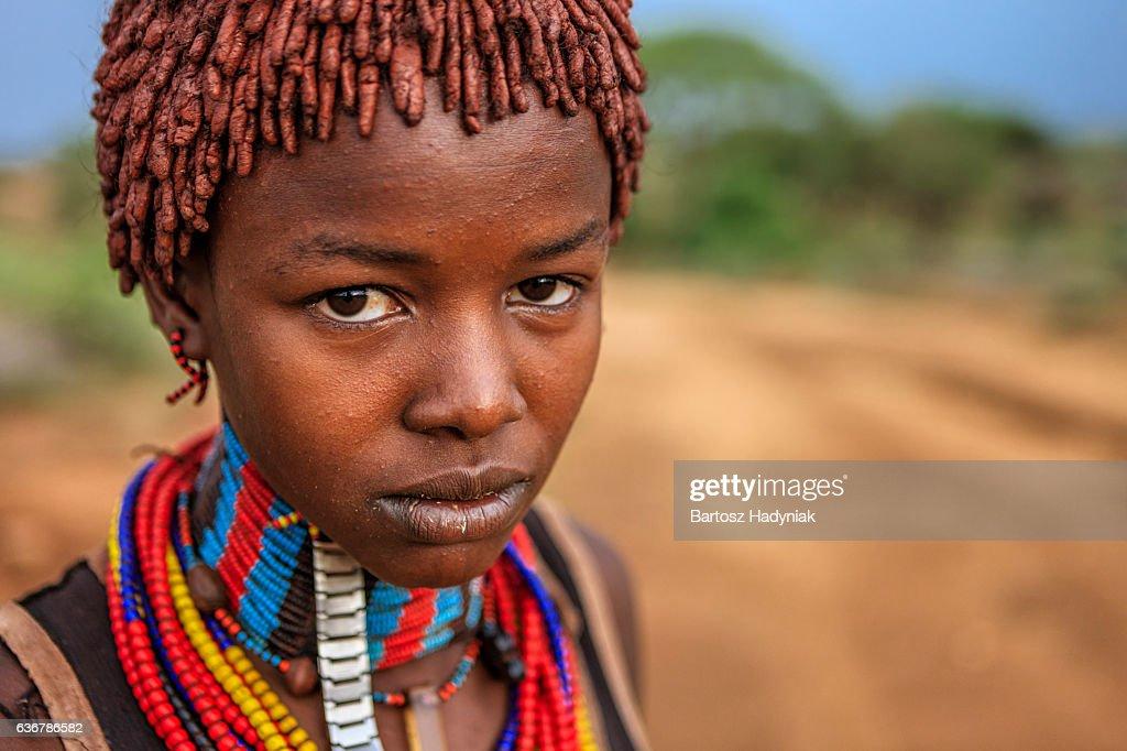 Hamar Tribe Woman Turmi Ethiopia December 12 2017 Stock