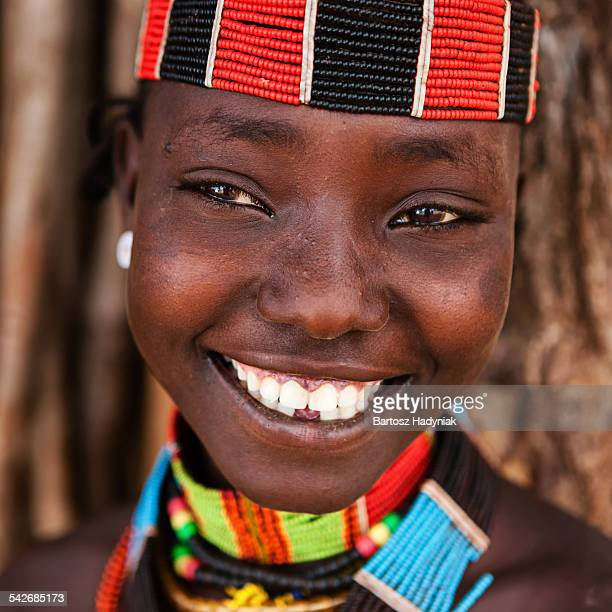 Young woman from Hamer tribe, southern Ethiopia