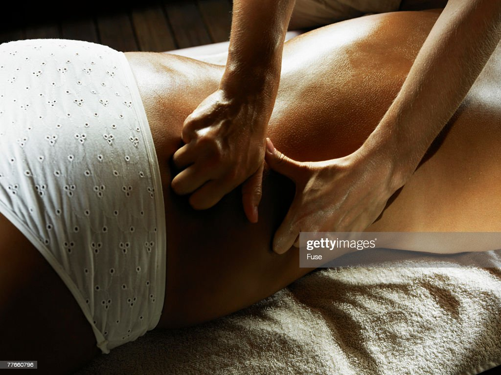 Young Woman Getting a Massage : Stock Photo