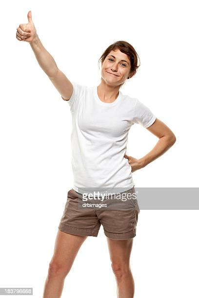 Young Woman Gives Thumbs Up